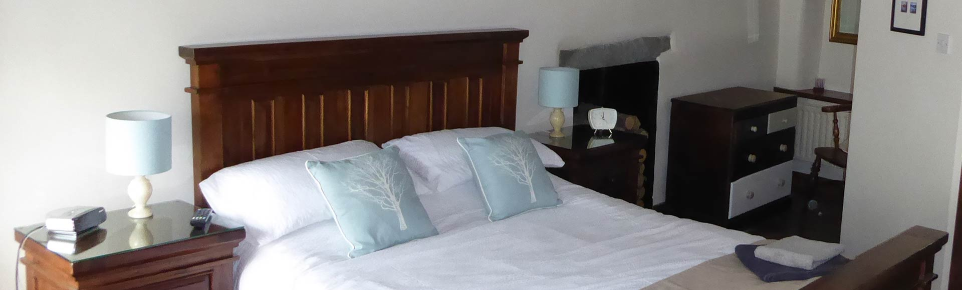 Double bedroom at Woolstore self-catering cottage